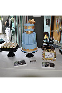 Wedgewood Blue & Gold Cake & Sweets