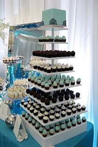 Tiffany Blue & Chocolate Brown Cupcakes