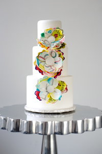 Graffiti Inspired Wedding Cake