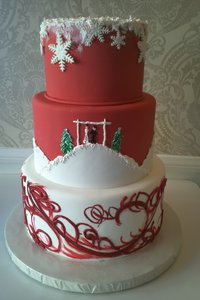 Winter Themed Wedding Cake