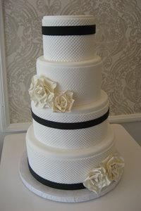 Pearl Mat Navy Amp White Wedding Cake