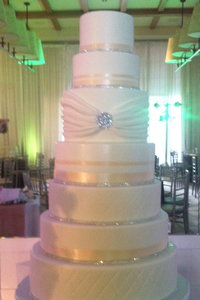 7 Tier Textured Bling Cake