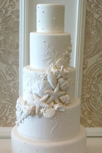 Cascading Sea Shell Cake