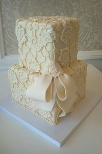 Lace Lark Cake (top tiers)