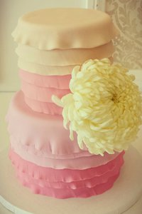Peach & Pink Ombre Reverse Ruffle