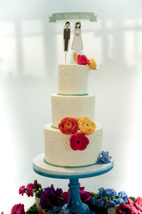 Happy Day Wedding Cake