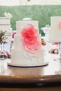 Coral & White Gatsby Cake Bar