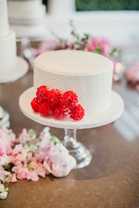 Carnation Cluster Single Tier Cake