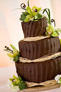 Whipped Chocolate Wedding Cake