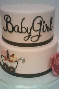 Baby Girl Carriage Cake
