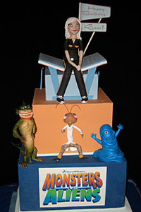Monsters vs. Aliens Cake for Reese Witherspoon