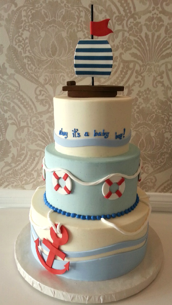 nautical baby shower cake vanilla bake shop celebration x3cb