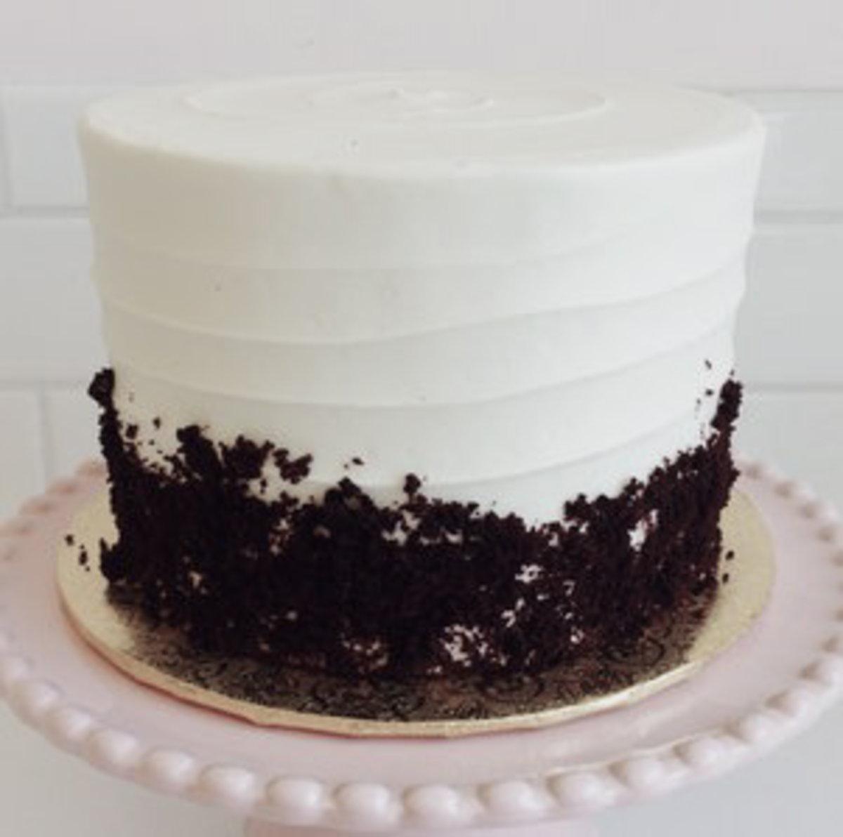 Dark Chocolate and Vanilla Bean Cake Swirled Together for the Perfect