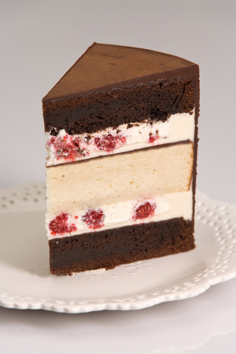 Chocolate Cake With Fresh Mint