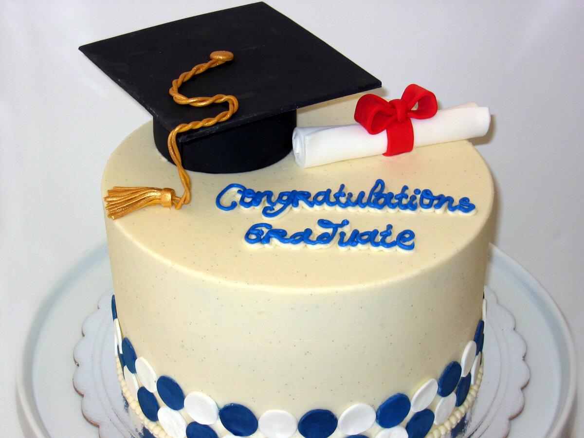 Graduation Cake Ideas Yellow Black White