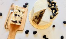 Vegan Vanilla Bean Cake with Blackberries