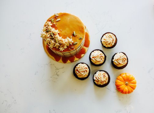 Salted Caramel Pumpkin Cake (Fall- Seasonal)